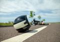 Pemotor Tewas Usai Mental ke Jalur Berlawanan dan Tabrak Mobil di Tebet, Tabrak Pembatas Jalan