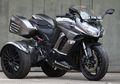Enggak Mau Kalah Pamor, Pelek Honda Jazz Nemplok Di Trike Ninja 1000