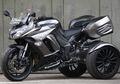 Cangkok Pelek Honda Jazz, Moge Kawasaki Ninja 1000 Disulap Jadi Tiga Roda