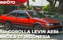 Video Restomod Toyota Corolla Levin AE86 Langka di Indonesia