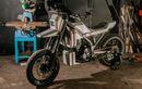 Modifikasi Kawasaki D-Tracker 250 Tampil Gagah Seperti Robot, Bodi Kotak-kotak