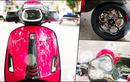 Vespa Sprint Bertampang Feminin, Pakai Baju Pink Plus Aksesori Mewah