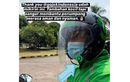 Bikin Pelanggan Merasa Tambah Aman, Helm Driver Ojol Kini Ditambah Face Shield