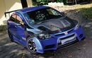 Modifikasi Honda Civic FD1 Gaya Street Racing Dengan Warna Biru Cerah