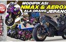 Begini Modifikasi Yamaha NMAX dan Aerox Ala Orang Jepang di Bali