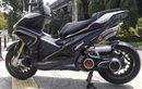 Yamaha Aerox Templok Knalpot Kece, Silencer Kembar Bentuknya Sangar