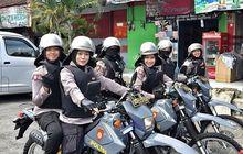 Patroli Pengamanan Pemilu 2019, Polwan Cantik Ini Bikin Gagal Fokus