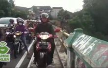 Salut, Pria Ini Hadang Pemotor Yang Berjalan di Trotoar di Yogyakarta