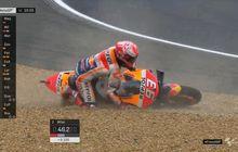 Dasar Marquez, Dua Kali Crash Tetap Aja Pole Position MotoGP Prancis
