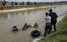 Belum Mahir, Pemotor Honda BeAT Nyemplung ke Saluran Irigasi, Ditemukan Tak Bernyawa