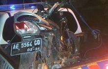 Bus Sugeng Rahayu Ngeblong, Pemotor Tewas Mengenaskan Honda Supra X 125 Remuk