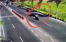 Video Detik-detik Motor Melesat Secepat Kilat  di Tengah Kemacetan, Uang BUMDES Rp 75 Juta Raib