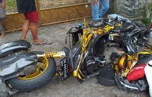 Kronologi Yamaha XMAX Ancur Berantakan Vs Honda Supra Hanya Lepas Sayap Kanan