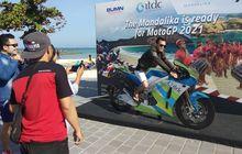 Sirkuit Belum Jadi, Pengunjung Mandalika Sudah Bisa Foto di Motor MotoGP