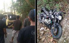 Truk Masuk Jurang Gara-gara Manuver Yamaha V-Ixion, Dua Orang Tewas Tertimpa Kayu Jati