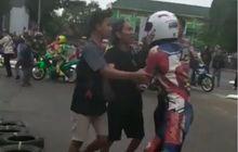 Mencekam, Video Detik-detik Balap Road Race Jadi Ajang Baku Hantam, Polisi Sampai Kewalahan