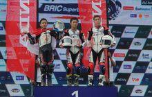 Bangga, Pembalap Muda Indonesia Raih Podium di Thailand Talent Cup Seri 4