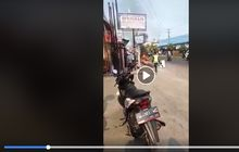 Warga Berhamburan, Gak Terima Ditilang Bocah Ngamuk Bakar Motor Sendiri, Polisi Langsung Gerak Cepat