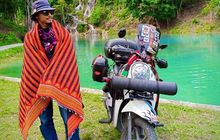 Siapa Bilang Turing Butuh Biaya Mahal, Faisal Yusri Buktikan Keliling Aceh Naik Honda Scoopy