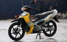 Suzuki Satria 2-Tak Restorasi Sampai Baut Orisinal, Tembus 2 Digit