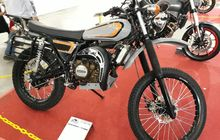Tampil Gagah! Motor Trail Hasil Kawin Silang Yamaha RX-K dengan Ninja 150, Jadinya Unik