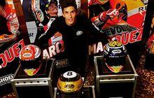 Dasar Marc Marquez, Sempat Pamer Helm Mewah Menjelang MotoGP Jepang 2019