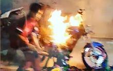 Pengunjung Histeris, Video Yamaha RX King Terbakar di Bengkel Resmi, Netizen Lontarkan Kecaman