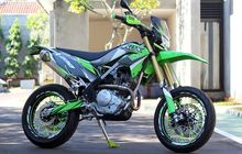 Kawasaki KLX230 Modifikasi Supermoto, Makin Stabil Di Jalan Aspal