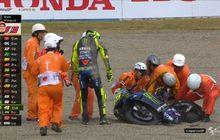 Ada Apa Nih, Balapan MotoGP Jepang Tersisa 4 Lap, Valentino Rossi Tersungkur di Tikungan Pertama