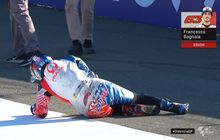 Baru Keluar Pit, Kenapa Murid Valentino Rossi Terkapar di FP3 MotoGP Valencia 2019?