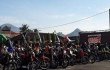 Waduh, Kenapa Nih Ribuan Motor Trail Menyerbu Mapolres Sumedang