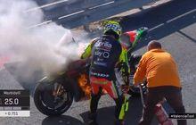 Ngamuk Parah! Andrea Iannone Sampai Teriak Begini, Gara-Gara Motor Kebakar di Tes Pramusim MotoGP 2020 Valencia