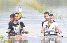 Viral Kakak Beradik Sukses Ciptakan Motor Amfibi, Lewati Jalanan Banjir Tanpa Masalah, Ini Rahasianya