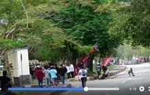 Ngeri, Video Kecelakaan Balap Motor di Aceh, Pembalap Tabrak Pembatas Jalan, Helm Sampai Pecah