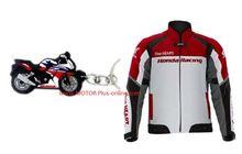 Promo Apparel Resmi Honda, Dari Jaket Kulit, Sarung Tangan Sampai Gantungan Kunci Honda CBR 250R Dijual Murah