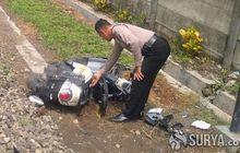 Sidoarjo Gempar, Honda Scoopy Hancur Berantakan Dihantam Kereta Api, Pengendaranya Seorang Wanita Selamat