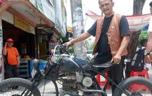 Modal Rp 5 Juta, Pria Ini Bikin Motor Custom Pakai Mesin Kapal, Top Speed-nya Bikin Melongo
