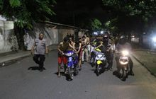 Pembalap Liar Kocar-kacir, Polresta Bandar Lampung Amankan 71 Motor Yang Akan Melakukan Balap Liar di Jalan Sultan Agung