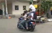 Gokil!, Atraksi Hell Driver Anak SMA Pakai Yamaha NMAX Bawa 6 Orang