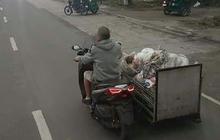 Jangan Arogan Bro Baru Punya Yamaha XMAX 250, Ada Pemulung Pakai Untuk Angkut Barang Rongsokan