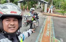 Mantap, Riding Yamaha Y15ZR, Pasangan Suami Istri Asal Malaysia Turing Kunjungi Bikers Indonesia