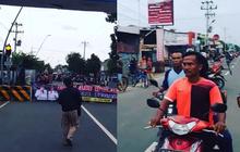 Pemotor Kebingungan, Akses Keluar Masuk Kota Tegal Ditutup Beton, Local Lockdown Mulai Berjalan
