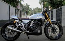 Pensiun Pakai Fairing Modifikasi Kawasaki Ninja 250R Beraliran Cafe Racer