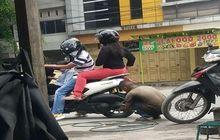 Kurang Ajar, Pemotor Yamaha NMAX Malah Nangkring di Atas Motor Saat Isi Angin, Langsung Diserang Warganet