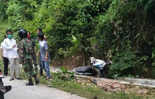 Hilang Kendali di Turunan Tajam, Satu Keluarga Pulang Silaturahmi Terjungkal dari Motor, Ayah dan  Seorang Anak Meninggal Seketika