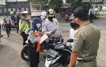Nah Loh, Ratusan Pemotor Disuruh Putar Balik di Daan Mogot Karena Tidak Bawa SIKM