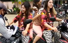 Netizen Jadi Pada Salah Fokus, Cewek Cakep Naik Honda Vario Diberhentikan Petugas Karena Melanggar PSBB
