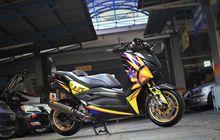 Sultan Nih, Modifikasi Yamaha XMAX Telan Biaya Rp 80 Juta, Pakai Motif Helm Valentino Rossi