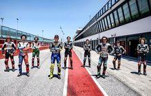 Pose Jarang Nih, Pertama Kalinya Valentino Rossi Latihan Bareng Semua Muridnya, Sekaligus Rayakan Kemerdekaan