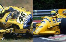 Fakta Unik, Gak Sangka Valentino Rossi dan Legenda F1 Ayrton Senna Sama-sama Pernah Pasang 'Unta'